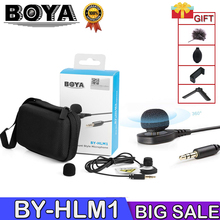 BOYA BY-HLM1 Wearable Pin Microphone Omnidirection Conderser Lavalier Mic 3.5mm Plug for Canon Nikon Sony Panasonic DSLR Camera цена в Москве и Питере