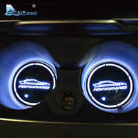 Airspeed 2pcs LED PERFORMANCE Car Coasters Cup Mats for BMW G30 F30 F34 F20 F10 F15 F16 F25 F26 F07 F48 E70 E90 E92 E60 E84 E87