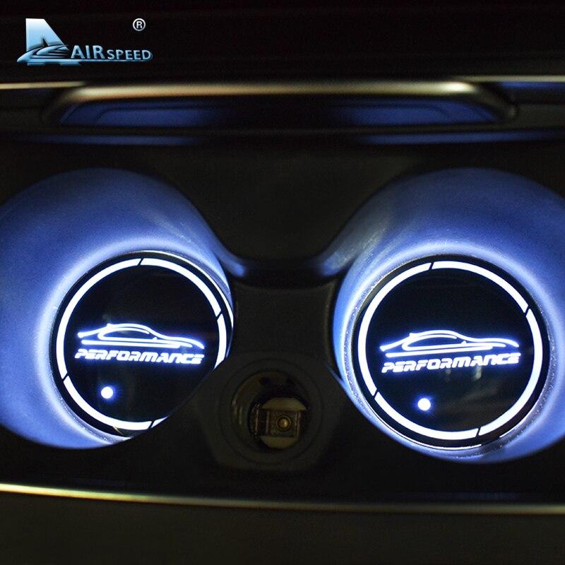 Vitesse 2 pcs LED Voiture De PERFORMANCE Coupe Verres Tapis pour BMW G30 F30 F34 F20 F10 F15 F16 F25 F26 f07 F48 E70 E90 E92 E60 E84 E87