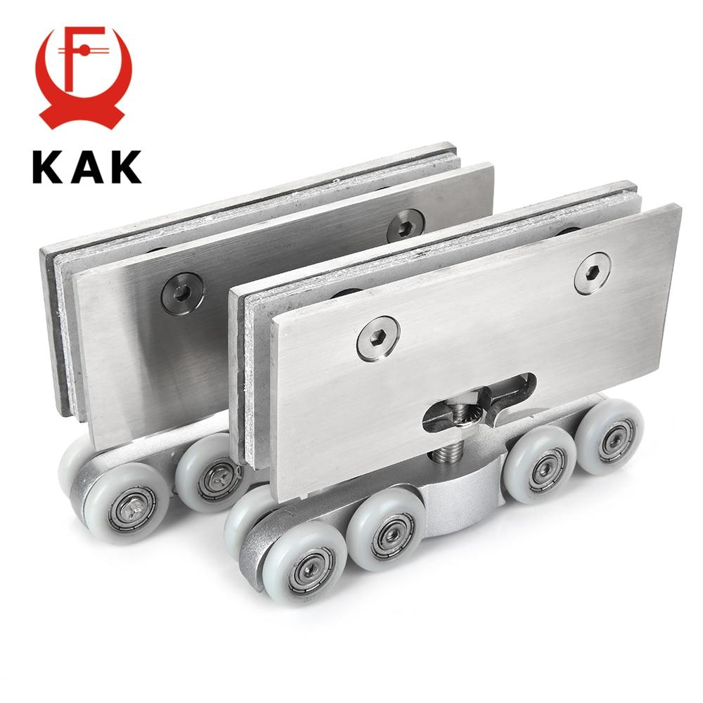 Hot Sale Kak Stainless Steel Glass Hanging Wheels 100kg Glass