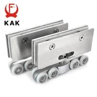 KAK Stainless Steel Glass Hanging Wheels 100KG Glass Sliding Door Rollers Bedroom Meeting Room Wardrobe Door Roller Wheels