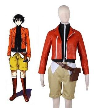 High-Q Unisex Japan Anime Cos Mirai Nikki Future Diary Amano Yukiteru Cosplay Costume Sets Jacket Coat Pants