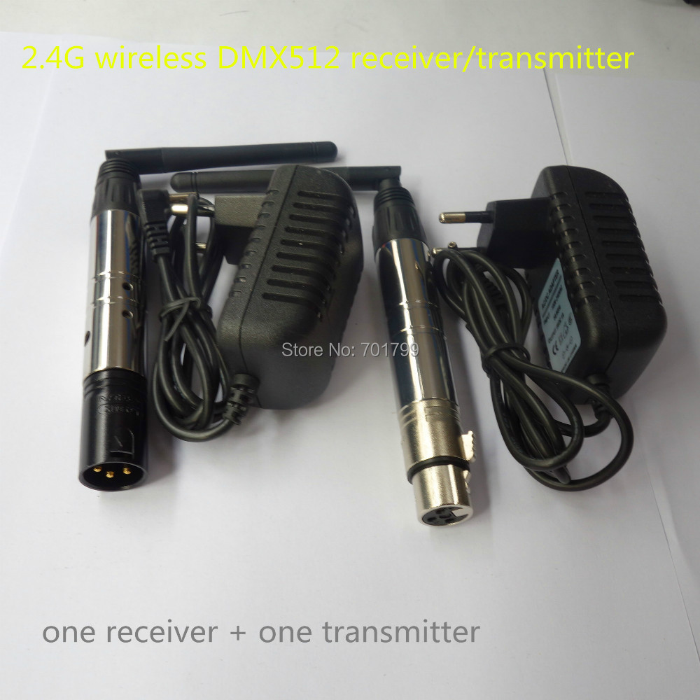 xlr 2 4ghz wireless dmx512 receiver transmitter in rgb controlers from lights lighting on. Black Bedroom Furniture Sets. Home Design Ideas