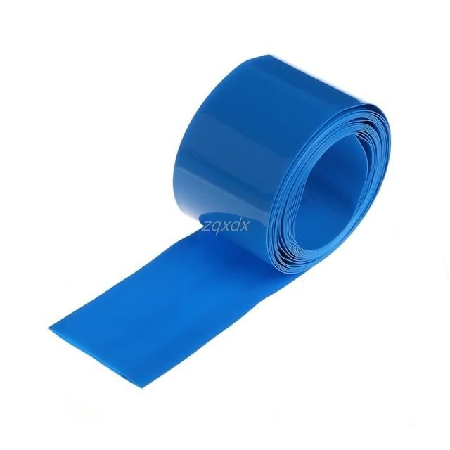 2m PVC Heat Shrink Tube Wrap Kit For 18650 18500 Battery Flat Round 18.5mm Hot Dropship 1
