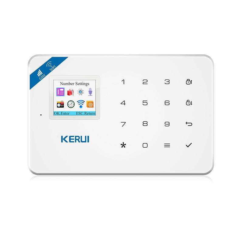 KERUI W18 Control Panel WIFI GSM SMS Home Burglar Security Alarm System wireless smoke fire detector for wireless for touch keypad panel wifi gsm home security burglar voice alarm system