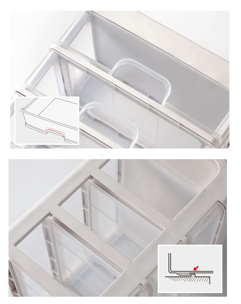 Plastic Cosmetic Storage Box to Organize Makeup with Drawers for Dressing Table of Women 14