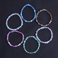 6mm flash Glass bead bracelet elastic bracelet for woman 2016 New pulseras