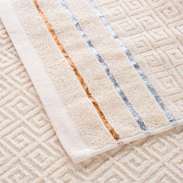 Lace Embroidered Cotton Towel Set 3 Pcs