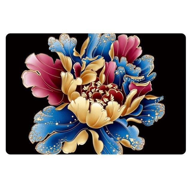 Best Hot Selling European Style 3D Flower Print Carpets Bedroom Rug  Bathroom Carpet Home Kitchen Floor