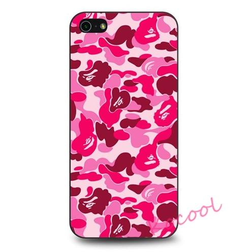 Bathing Ape Bape Pink Camo Case cover for samsung galaxy S3 S4 S5 S6 S6 edge S7 S7 edge Note 3 Note 4 Note 5 #NM316