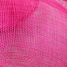 Элегантные шляпки из соломки синамей с вуалеткой хорошее Свадебные шляпы высокого качества черного цвета Клубная кепка очень хорошее 17 цветов MSF099 - Цвет: hot pink