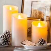 Ksperway Flameless Moving Wick Wax Decoration LED Candles