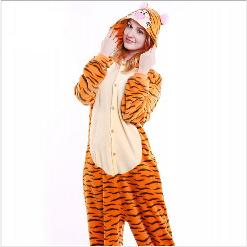 Special Price Womens Tigger Animal Full Sleeve Polyester Sleep Lounge Onesies Pajama Funny Pajamas Women ...
