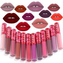 KADALADO Brand Waterproof Long Lasting Matte Liquid Lipstick Lip Gloss Makeup Tint Kit Beauty Cosmetics 24 Colors