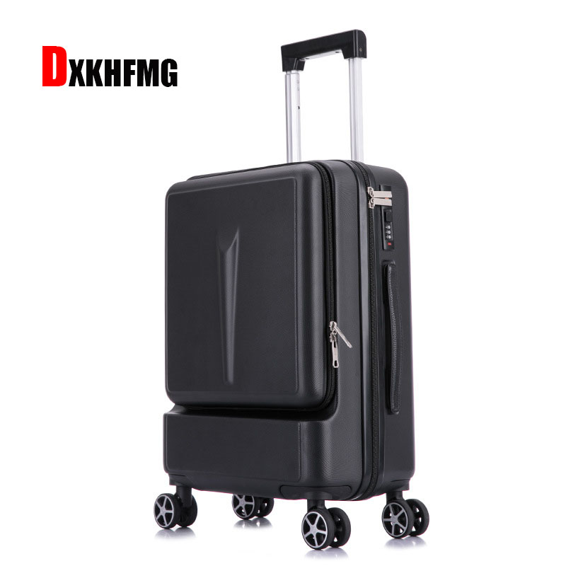 New High-end Fashion Unisex Scrub ABS Business Travel Luggage Traveling Luggage Bags With Wheels Carry On Hard Case Suitcase