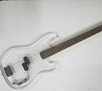 Заводская акриловые тело бас 4 strings Jazz bass инструменты магазин