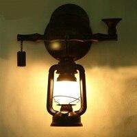 Chinesischen retro hintergrund wohnzimmer Wandleuchten industriellen stil café bar lampe kerosin laterne LU814292