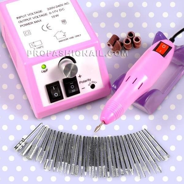 20000 rpm Rosa taladros eléctricos de Uñas máquina de 110 120 V 220 ...