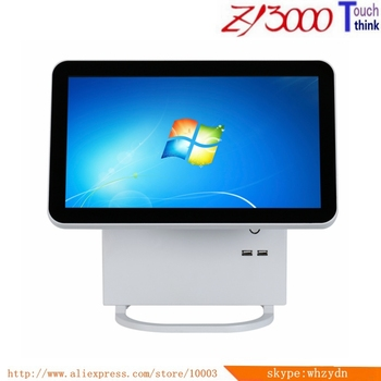 New Stock metal case  I5 4200U 4g ram 64G SSD double 15.6 inch capacitance mulit Touch screen All In One Pos Terminal