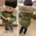 2017 Kids Clothes Boys And Girls Winter Coat Outwear Clothing Down Coat And Jacket Army Green Parka Coat With Fur Winter Jacket