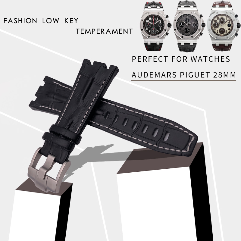28mm New Fashion Genuine Cowhide Leather Watch Strap Original Quality Watchband Suitable for AUDEMARS PIGUET Watch Accessories28mm New Fashion Genuine Cowhide Leather Watch Strap Original Quality Watchband Suitable for AUDEMARS PIGUET Watch Accessories