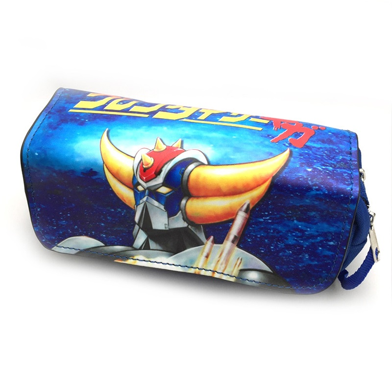 Anime UFO Robot Grendizer Student Pencil Pen Case Stationery Bag Chis Sweet Home Pencil Cosmetic Bag