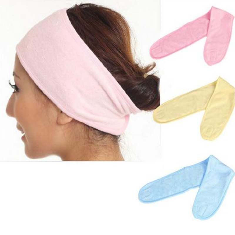 gootrades 1Pcs Women Elastic Face Makeup Hair Band Headband