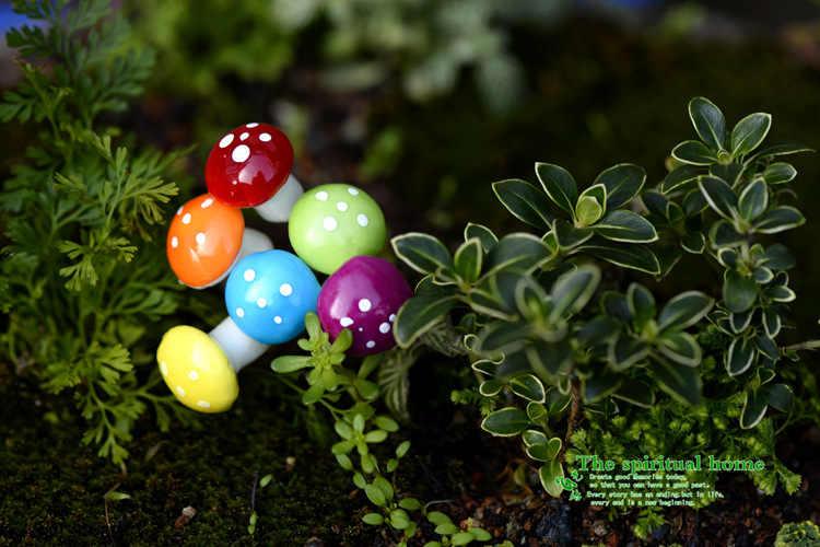 8 pièces fleur jardinage mousse Micro vue grande taille mousse champignons bricolage assemblé petit ornement jouets Miniature jardin décor à la maison