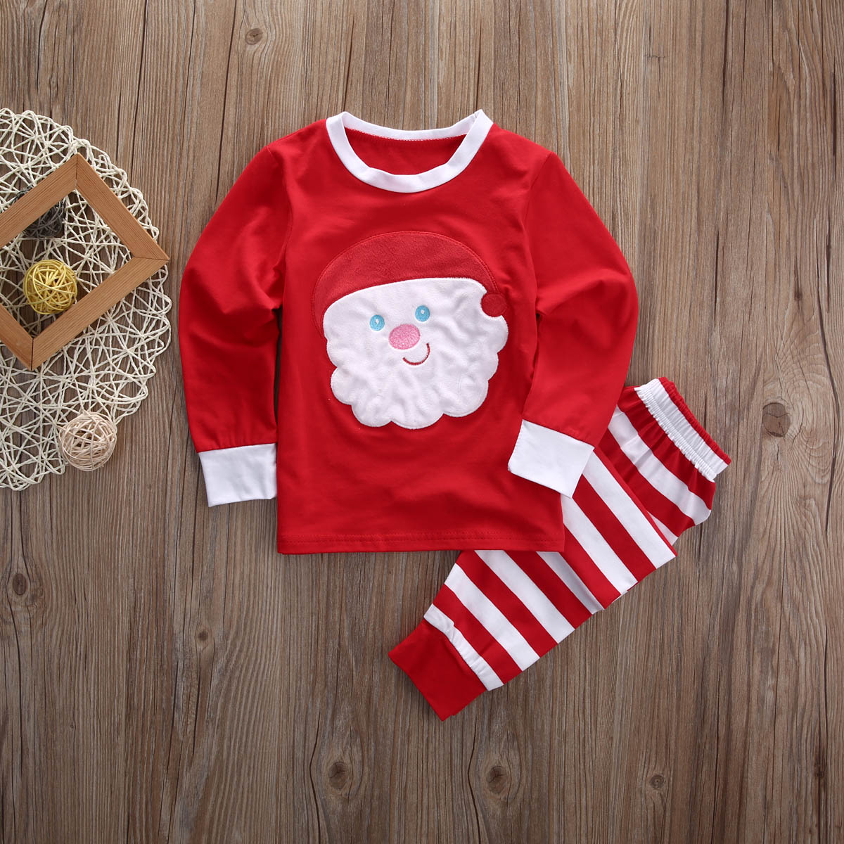 cc2a62cac Baby Kids Xmas Pjs Clothing Set Kid Babies Christmas Santa Claus ...