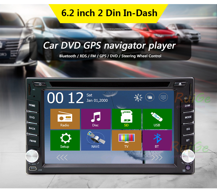 2 Din Universal GPS Navigation Support SD USB Bluetooth GPS Navigation Car Radio for Vol ...