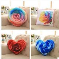 Cotton 3D Roses Shape Pillow Cushion Soft Office Plush Toys Home Decoration Valentine S Day Gifts