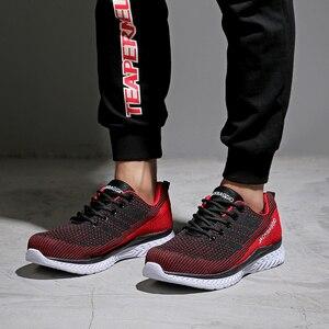 Image 4 - חם מותג גברים אירופאי בטיחות בעבודת סטנדרטית פלדה, קל משקל נעלי ספורט, ארבע עונה לנשימה החלקה נעליים מזדמנים.