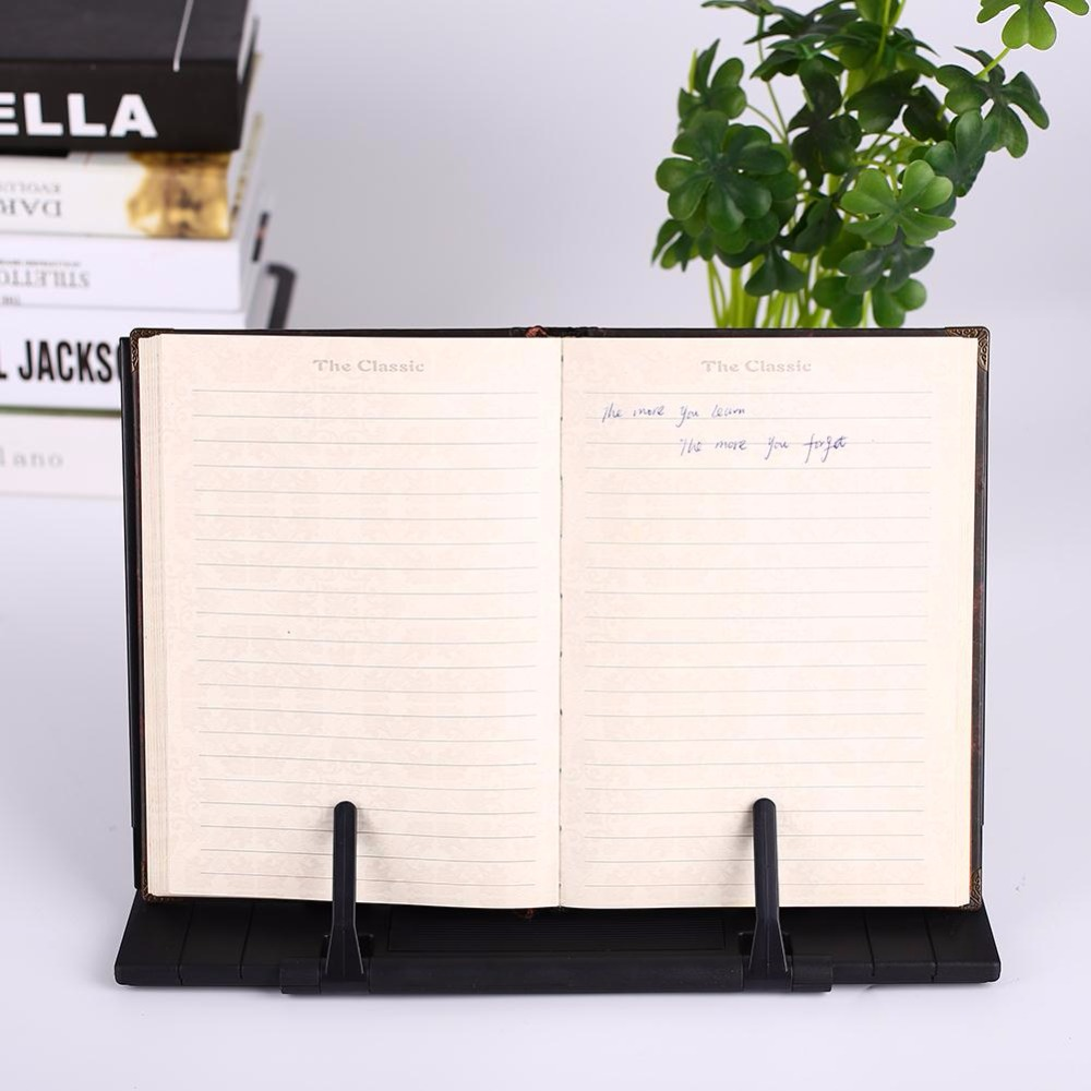 Cobee Adjustable Book Document Music Score Holder Bookrest Bookend Reading Stand Black target score teacher s book