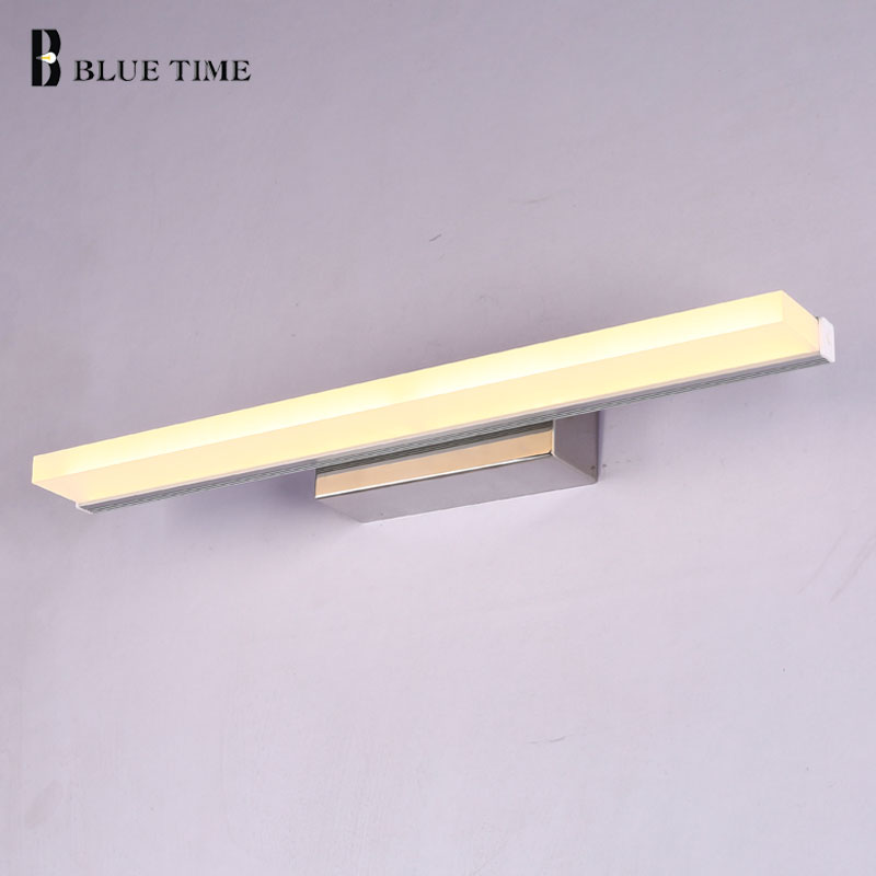 LED Wall Light Anti-fog Waterproof Wandlamp For Bathroom Mirror Front Light Acrylic Sconce Wall Lamp Bathroom Lamp 60 80 100CM ark light 40cm bow tie 14w acrylic wall lamp bathroom led mirror lamp bathroom aisle living room waterproof anti fog ac 80 265v