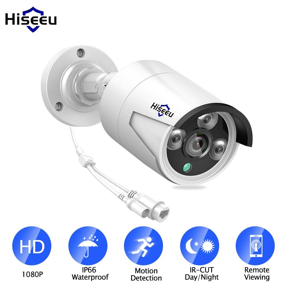 Hiseeu H.265 1080 P cámara IP POE 2MP bala cámara CCTV IP ONVIF 2,0 para POE NVR sistema impermeable al aire libre la visión nocturna