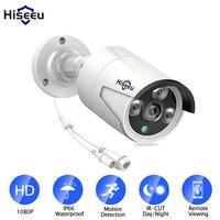 Hiseeu H.265 1080P POE IP Camera 2MP Bullet CCTV IP Camera ONVIF 2.0 for POE NVR System Waterproof Outdoor Night Vision Surveillance Cameras