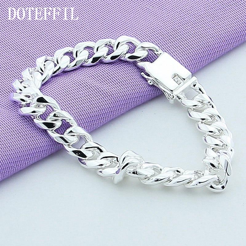 10 мм браслет 925 сріблястий колір - Модні прикраси - фото 4
