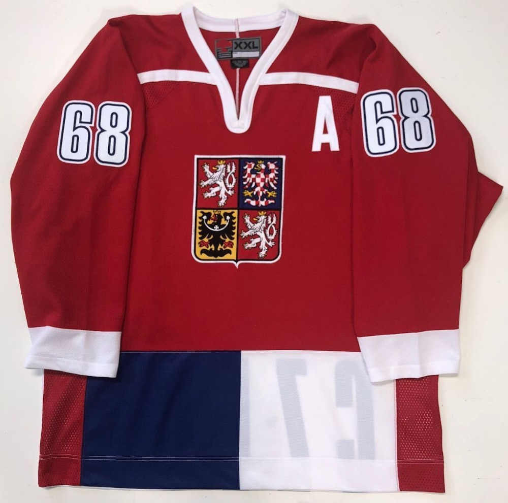 Rare Vintage JAROMIR JAGR CZECH REPUBLIC Hockey Jersey Embroidery Stitched  Customize any number and name Jerseys 1b4014826