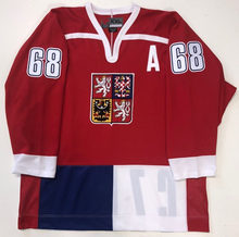 8256f17ee Rare Vintage JAROMIR JAGR CZECH REPUBLIC Hockey Jersey Embroidery Stitched  Customize any number and name Jerseys