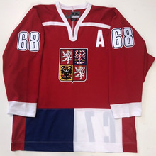 adb8916f Rare Vintage JAROMIR JAGR CZECH REPUBLIC Hockey Jersey Embroidery Stitched  Customize any number and name Jerseys