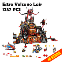 WAZ Compatible Legoe 70323 Nexoe Knights Bela 10521 1237Pcs Jestro Volcano Lair Figure Building Blocks Bricks