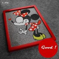 Lovely Minnie Mouse Diamond Painting 30 40CM Diy Disny Minnie Mouse 5D Diamond Painting Full Embroidery