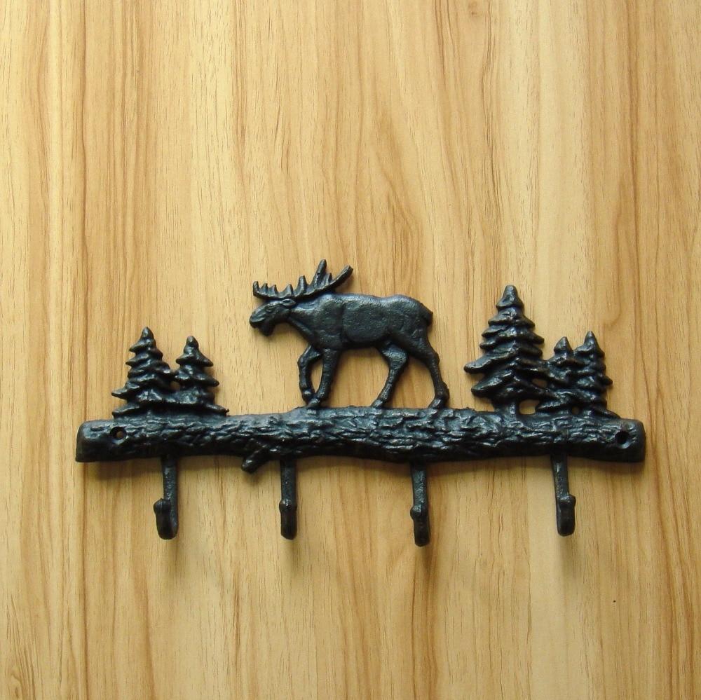 Vintage Metal Reindeer Bag Hook Ornamental Foundry Iron Christmas ...
