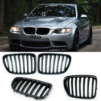 1 Pair Upgrade Euro Sport Gloss Black Front Slat Grilles SUV Kindly Grill For BMW E84 X1 2010 2015 Car Styling P8