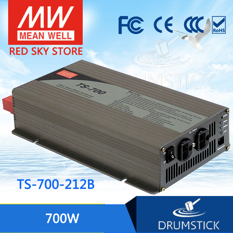 patriotic MEAN WELL TS-700-212B EUROPE Standard 230V meanwell TS-700 700W True Sine Wave DC-AC Power Inverter