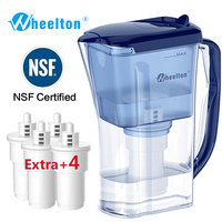 Water Filter Pitcher Purifier BPA Free Ion Exchang Ca2 Mg2 Reduce Incrustation Scale Extra 4 Filters