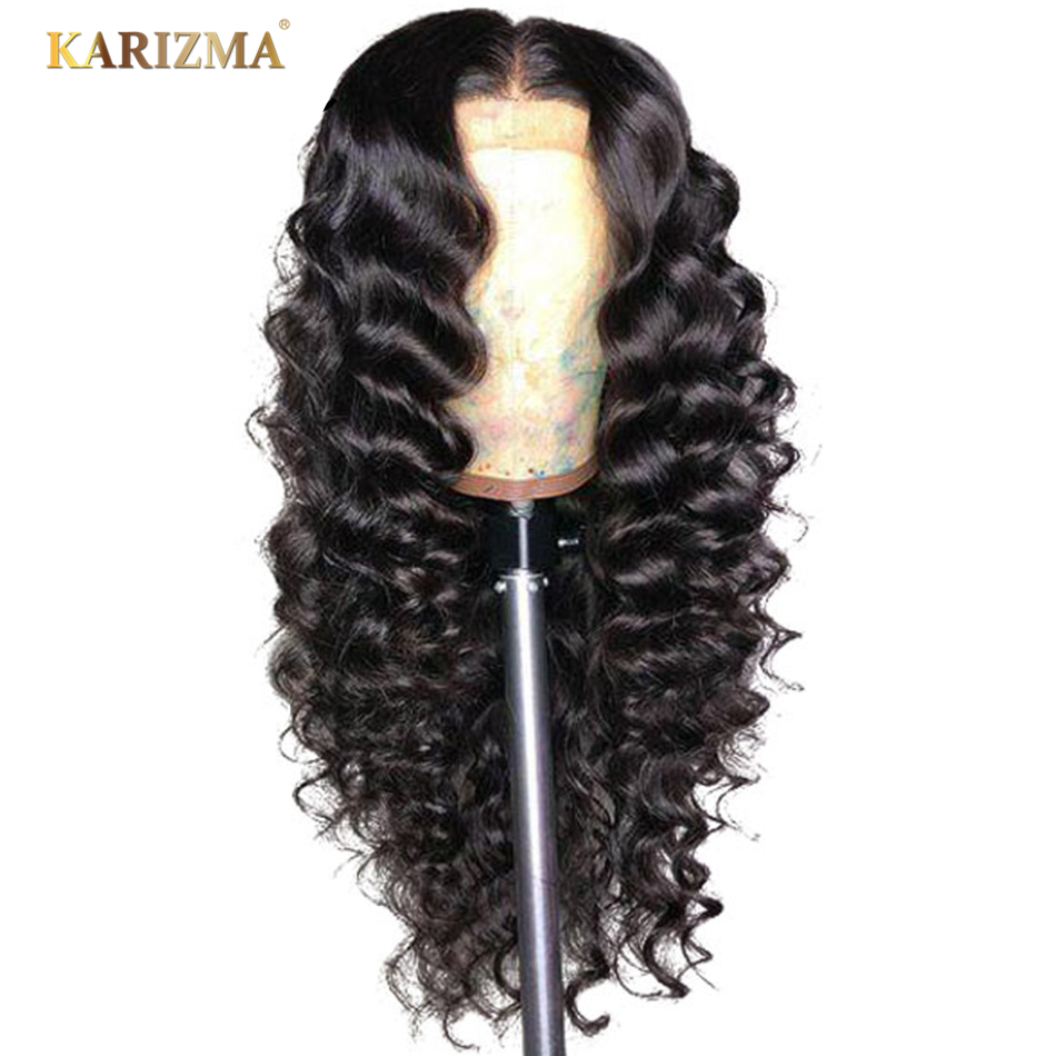 Karizma Brazilian Loose Deep Wave Lace Front Human Hair Wigs Lace Wigs With Baby Hair Pre Plucked Natural Hairline 150% Remy