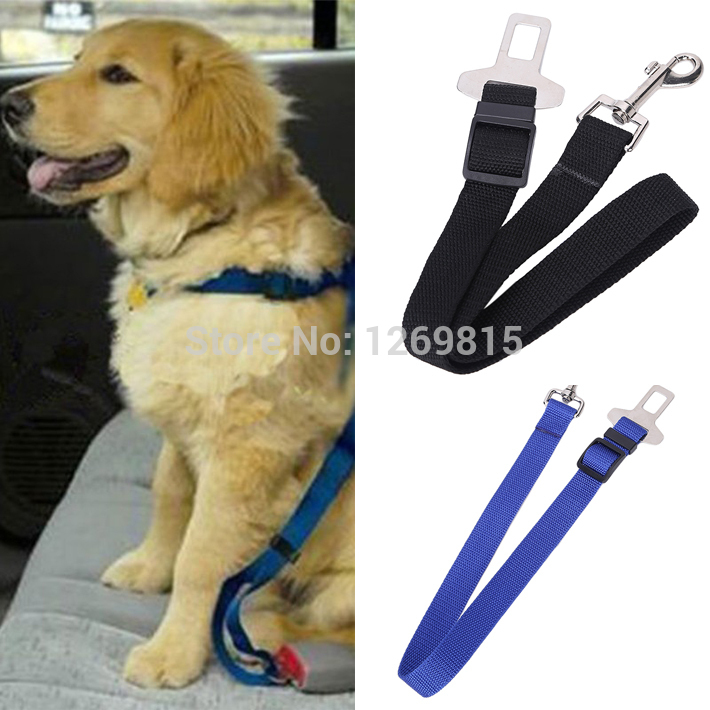 Adjustable Dog Cat Pet Car Safety Seat Belt Black Pet Belt for Dog Blue Safety Seat Belt Red Amy Green Dog Belt Free Shipping