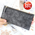 2015 New Leather Famous Design Solid Women Wallet Ladies Long Zipper Female Bag Women Leather Wallet Hand Clutch Coin Purses