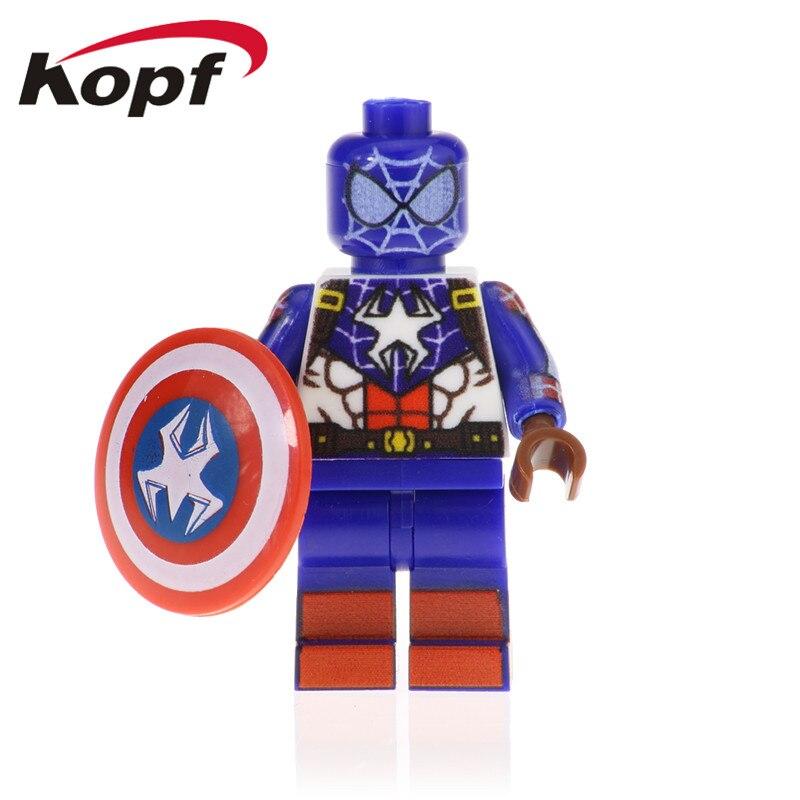 Single Sale Super Heroes Assemble Marvel Spiderman Model Captain America Skurge -9568